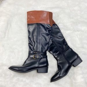 Rampage Ivenn black brown knee high riding boots